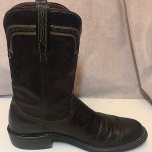 Lucchese Men's Brown Leather Western Boots sz 8